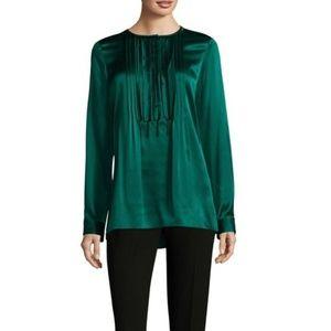 New Elie Tahari green blouse